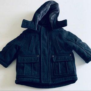 Baby boys wool blend puffer coat